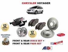 FOR CHRYSLER GRAND VOYAGER 1997-  NEW FRONT & REAR BRAKE DISCS AND DISC PADS SET