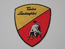 MOTORSPORTS RACING CAR SEW ON / IRON ON PATCH:- LAMBOURGHINI (b) TORINO SHIELD