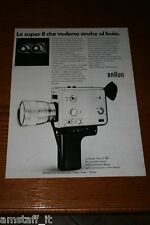 AO10=1972=BRAUN CINEPRESA SUPER 8 NIZO 800=PUBBLICITA'=ADVERTISING=WERBUNG=