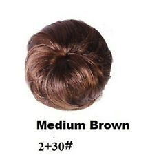 Medium Brown Pony Tail Hair Extension Scrunchie Bun