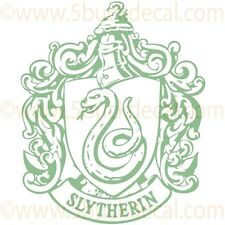 Harry Potter Slytherin Crest Vinyl Wall Decal or Macbook Sticker or Window Decal