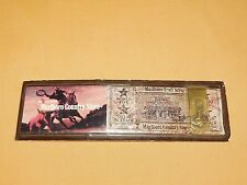 VINTAGE TOBACCO CIGARETTES MALBORO COUNTRY STORE AD WITH METAL MONEY CLIP