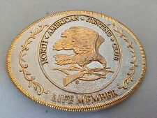 GOLD AND SILVER North American Hunting Club Lifetime Member Belt Buckle