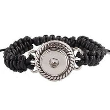 SNAP Black SHAMBALA BRACELET Interchangeable JEWELRY 18mm Fits Ginger Snaps