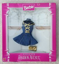 Barbie Mattel Fashion Avenue modèle 14673 robe denim blue gold 3 + ans incomplets