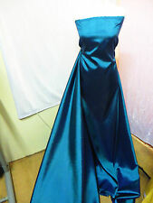 "1M METALIC BLUE DRESS  COLOURED  TAFFETA  FABRIC 58"" WIDE"