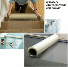 Carpet Protector Heavy Duty clear Plastic Roll self adhesive Cover Dust Sheet