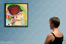 """23"""" THE KISS     ----------------- original oil on canvas painting by ANNA !!!"""