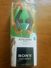 Sony MDR-AS200 Earbud Ear-Clip Headphones ORANGE Active Sports NEW & SEALED!