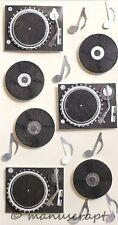 Artoz Artwork 3D-Sticker, Plattenspieler, Musik