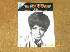 Carla Thomas sheet music I Like What You're Doing 1969 3 pages (VG+ shape)
