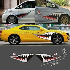 59'' Full Size Shark Mouth Tooth Flying Tiger Die-Cut Vinyl Car Sticker Decal