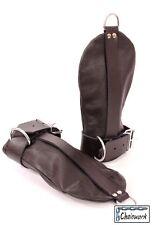Bondage Handschuhe Fesselhandschuhe Handfesseln echtes Leder schwarz 2064cw