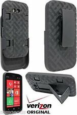 OEM Verizon Shell Holster Belt Clip Case Combo+Stand for Nokia Lumia 822