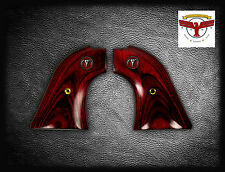 COLT FRONTIER SCOUT ~ OXBLOOD GRIPS ; PEACEMAKER + Red Steer Skull Medallions ^