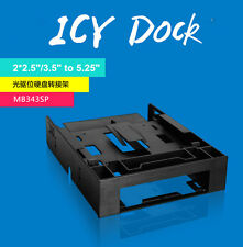 """ICY Dock FLEX-FIT MB343SP 2*2.5"""" HDD Adapter Tray 3.5"""" to 5.25"""" SSD Driver BAY"""