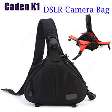 Waterproof DSLR SLR Digital Camera Bag Case Messenger For Canon Nikon Crossbody