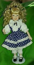 BEAUTIFUL Kingstate The Dollcrafter Porcelain Doll EXCELLENT CONDITION w/Stand