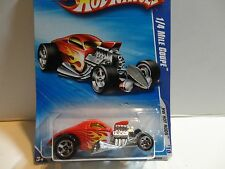2010 Hot Wheels #140 Red 1/4 Mile Coupe w/5 Spoke Wheels