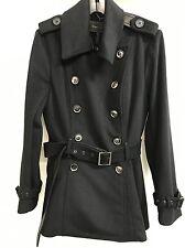 |NEW| BCBG Black Wool Jacket L $378 10325BMA