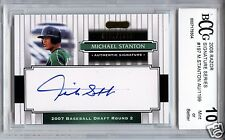MIKE STANTON GIANCARLO Marlins 2008 Razor Auto 997/1199 rookie BCCG 10 MINT