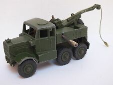 VINTAGE DINKY SUPERTOYS CAR 661 MILITARY ARMY RECOVERY TRACTOR CRANE TRUCK