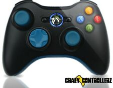 Xbox 360 Modded Controller Rapid Fire DropShot QuickScope Mod Black Ops 2 Blue