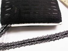 "Insertion Lace Black with Black Ribbon 1 1/8"" wide 120 Yard Bolt"