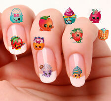 40 Nail Art Decals Transfers Stickers #858,859 Shopkins  Mixed set