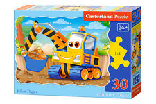 Castorland B-03464 Puzzle Yellow Digger Gelber Bagger Kinderpuzzle 30 Teile