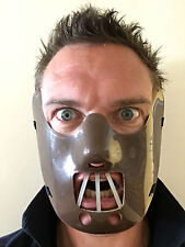 BROWN HANNIBAL LECTER MASK SILENCE OF LAMBS FANCY DRESS HORROR HALLOWEEN