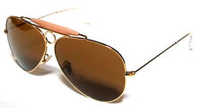 RAY BAN 3138 58 SHOOTER GOLD ORO B15 LENSES MARRONE BROWN PERSONALIZZATO REMIX