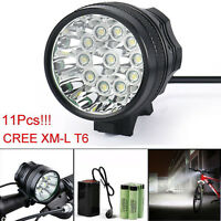 28000Lm CREE T6 LED Headlight Bicycle Lamp Cycling Torch Light +Battery +Charger