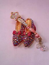 Kirks Folly NWOT Dorothy's Ruby Slippers Wizard of Oz Magic Wand Pin Brooch