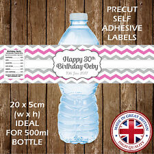 Personalised Birthday Water Bottle Labels Party Favour Decoration Gift Nice Cute
