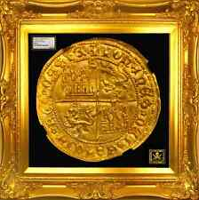 "SPAIN 1406 GOLD DOBLA NGC 61 ""CROSS of JERUSALEM"", SEVILLE MINT 510 YEARS AGO!"