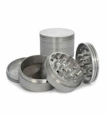 "Metal Aluminum Herb Spice Grinder 4 Piece 2.5"" 63mm with Screen crusher gun BU-5"