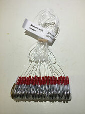 MACKERAL SET 20 HOOK 60/80LB CUSTOM MADE SILVER TINSEL SEA FISHING TACKLE