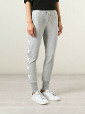 ZOE KARSSEN PLAIN GREY STAR SWEATPANTS XSMALL
