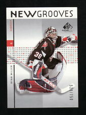 Ryan Miller Rookie--2002-03 SP Game Used New Grooves Serial #--Buffalo Sabres