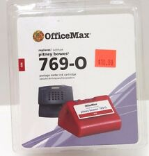 New in Package OfficeMax Pitney Bowes 769-0 Red Postage Meter Ink Cartridge