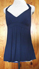 Midnight Grace by Figleaves Size 10 Padded Support Halter Neck Top Ink Blue