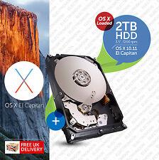 iMac, Mac Pro :: 2TB 7200RPM 3.5 :: HDD (HARD DRIVE) OS X Loaded