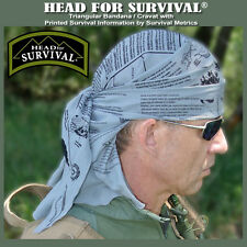 Head for Survival ® TACTICAL Triangular Bandana/Cravat with Survival Information