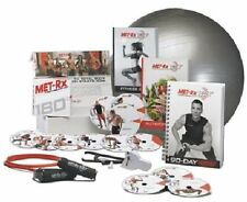 Met-Rx 180 Workout Fitness Exercise Ball Program Complete Kit