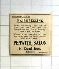 1963 Something New In Hairdressing, Penwith Salon Chapel Street Penzance