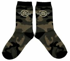 LADIES KHAKI CAMOUFLAGE US AIR FORCE STAR SOCKS UK 4-8 EUR 37-42 USA 6-10