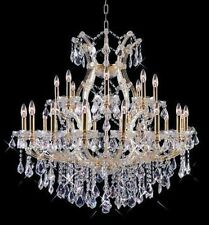 Palace Grand 25 Light Maria Theresa Crystal Chandeliers light Gold Lamp