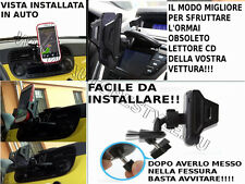 CD AERO SUPPORTO TABLET SU CD AUTORADIO SMARTPHONE GALAXY S2 3 NOTE 1 2 3 IPHONE