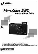 Canon Powershot S90 Digital Camera User Guide Instruction  Manual